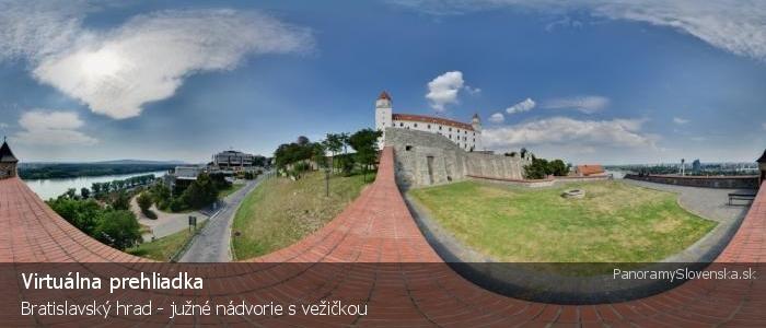 Bratislavský hrad - južné nádvorie s vežičkou