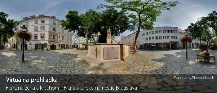Fontána žena s krčahom - Františkánske námestie Bratislava