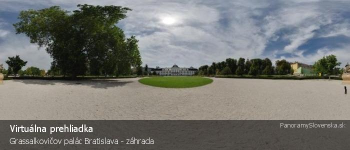 Grassalkovičov palác Bratislava - záhrada