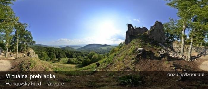 Hanigovský hrad - nádvorie