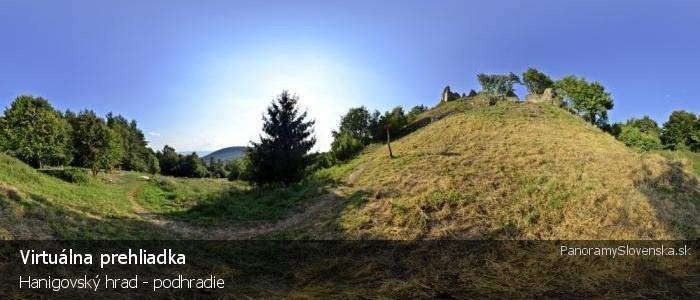 Hanigovský hrad - podhradie