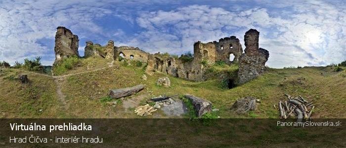 Hrad Čičva - interiér hradu