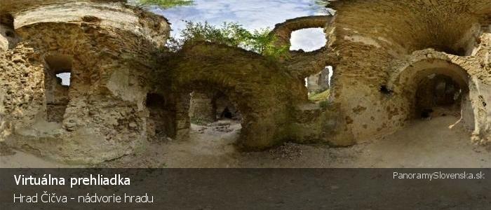 Hrad Čičva - nádvorie hradu