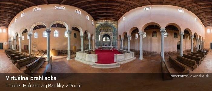 Interiér Eufraziovej Baziliky v Poreči