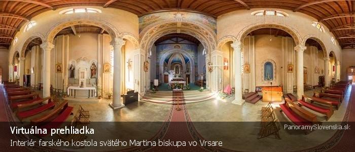 Interiér farského kostola svätého Martina biskupa vo Vrsare