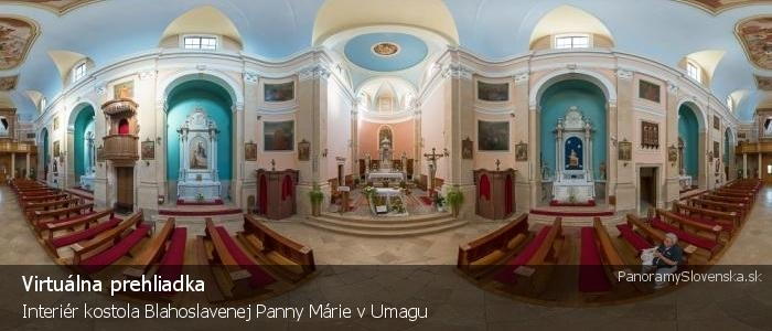 Interiér kostola Blahoslavenej Panny Márie v Umagu