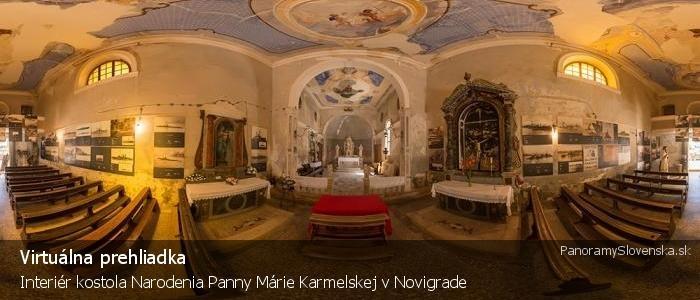 Interiér kostola Narodenia Panny Márie Karmelskej v Novigrade