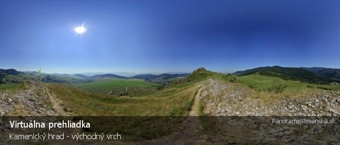 Kamenický hrad - východný vrch