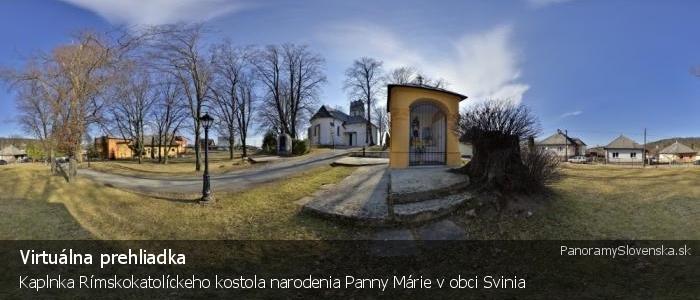 Kaplnka Rímskokatolíckeho kostola narodenia Panny Márie v obci Svinia