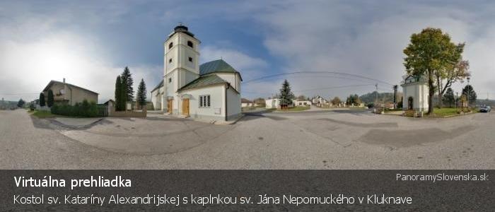 Kostol sv. Kataríny Alexandrijskej s kaplnkou sv. Jána Nepomuckého v Kluknave
