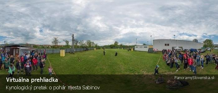 Kynologický pretek o pohár mesta Sabinov