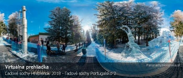 Ľadové sochy Hrebienok Tatry Ice Master 2018 - ľadové sochy Portugalsko 2