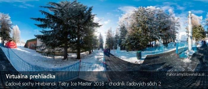 Ľadové sochy Hrebienok Tatry Ice Master 2018 - chodník ľadových sôch 2