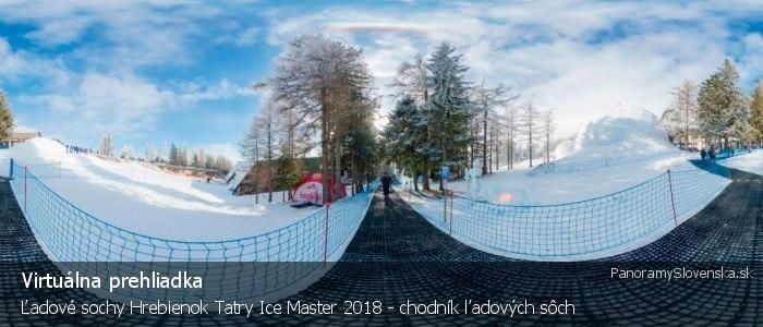 Ľadové sochy Hrebienok Tatry Ice Master 2018 - chodník ľadových sôch