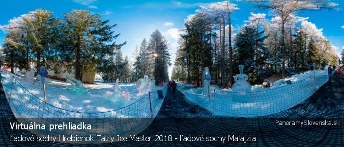 Ľadové sochy Hrebienok Tatry Ice Master 2018 - ľadové sochy Malajzia