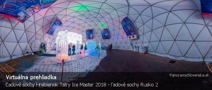 Ľadové sochy Hrebienok Tatry Ice Master 2018 - ľadové sochy Rusko 2