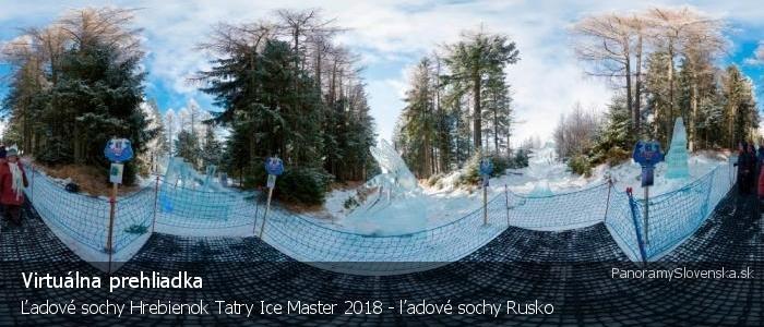 Ľadové sochy Hrebienok Tatry Ice Master 2018 - ľadové sochy Rusko