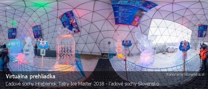 Ľadové sochy Hrebienok Tatry Ice Master 2018 - ľadové sochy Slovensko