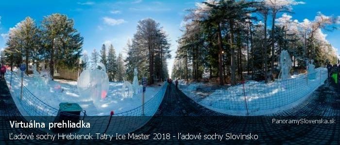 Ľadové sochy Hrebienok Tatry Ice Master 2018 - ľadové sochy Slovinsko