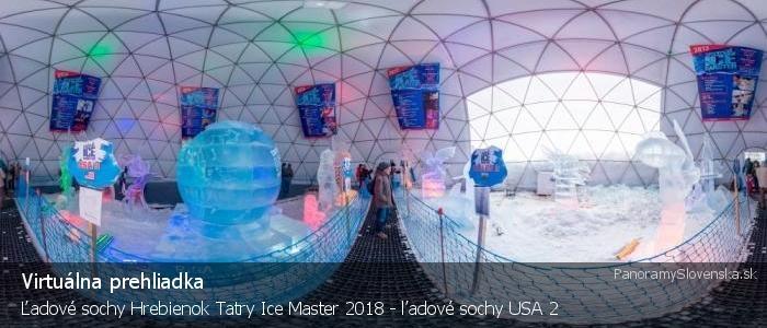 Ľadové sochy Hrebienok Tatry Ice Master 2018 - ľadové sochy USA 2
