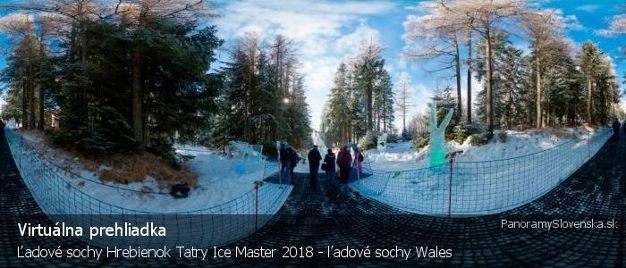 Ľadové sochy Hrebienok Tatry Ice Master 2018 - ľadové sochy Wales