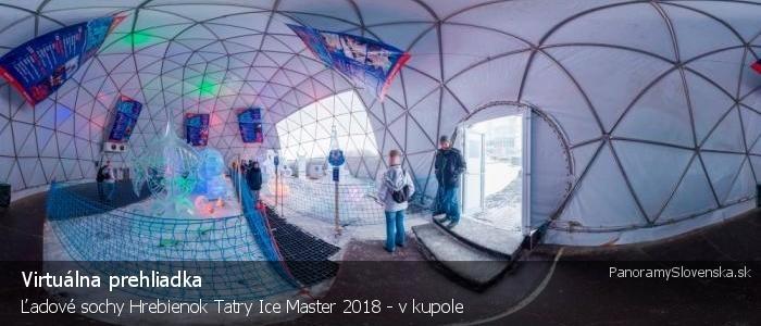 Ľadové sochy Hrebienok Tatry Ice Master 2018 - v kupole