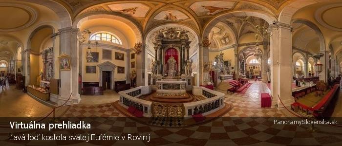 Ľavá loď kostola svätej Eufémie v Rovinj