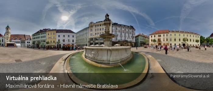 Maximiliánová fontána  - Hlavné námestie Bratislava