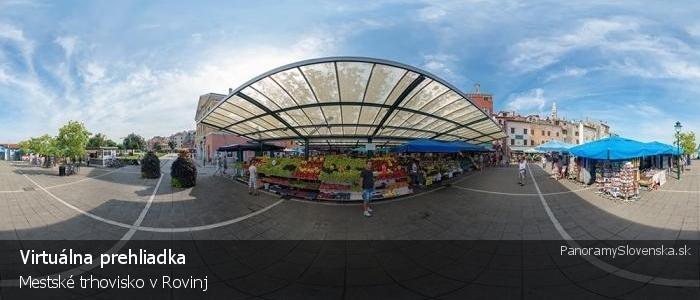 Mestské trhovisko v Rovinj