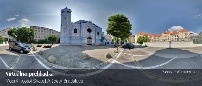 Modrý kostolík Svätej Alžbety Bratislava