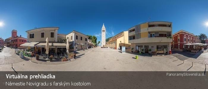 Námestie Novigradu s farským kostolom
