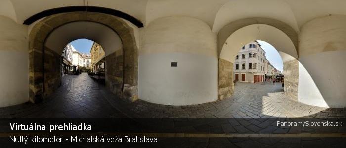 Nultý kilometer - Michalská veža Bratislava