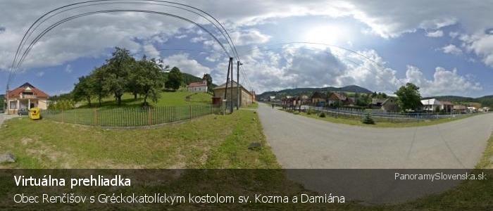 Obec Renčišov s Gréckokatolíckym kostolom sv. Kozma a Damiána