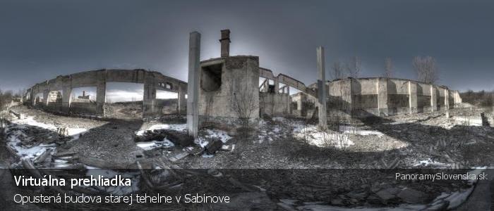 Opustená budova starej tehelne v Sabinove