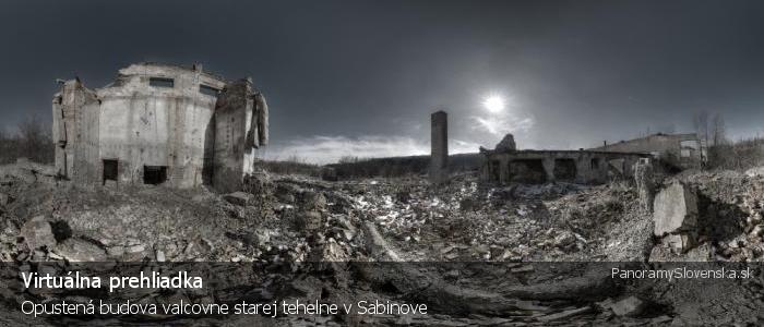 Opustená budova valcovne starej tehelne v Sabinove