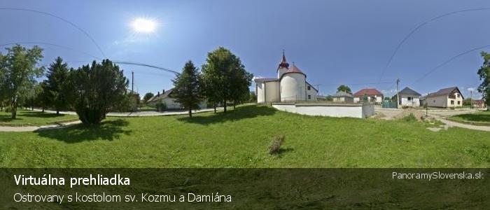 Ostrovany s kostolom sv. Kozmu a Damiána