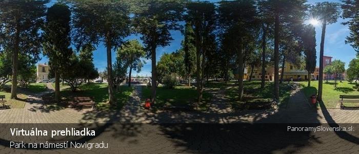 Park na námestí Novigradu
