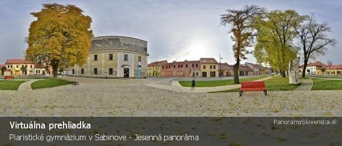 Piaristické gymnázium v Sabinove - Jesenná panoráma