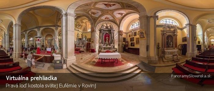 Pravá loď kostola svätej Eufémie v Rovinj