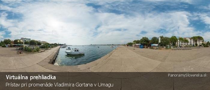 Prístav pri promenáde Vladimira Gortana v Umagu