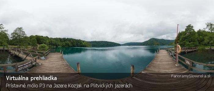 Prístavné mólo P3 na Jazere Kozjak na Plitvických jazerách