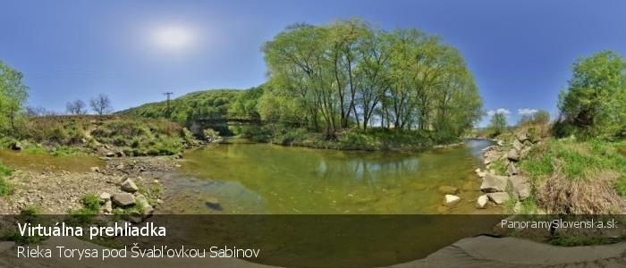 Rieka Torysa pod Švabľovkou Sabinov