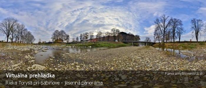 Rieka Torysa pri Sabinove - jesenná panoráma