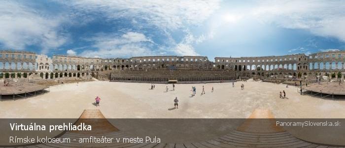 Rímske koloseum - amfiteáter v meste Pula