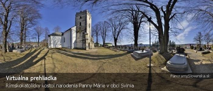 Rímskokatolícky kostol narodenia Panny Márie v obci Svinia
