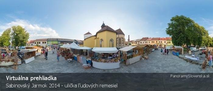 Sabinovský Jarmok 2014 - ulička ľudových remesiel