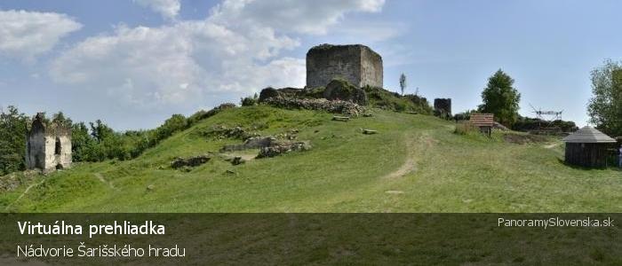 Nádvorie Šarišského hradu