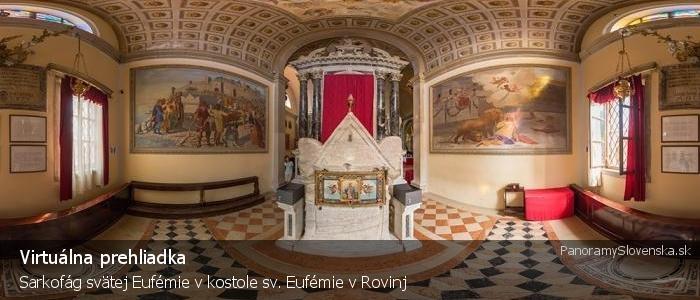 Sarkofág svätej Eufémie v kostole sv. Eufémie v Rovinj