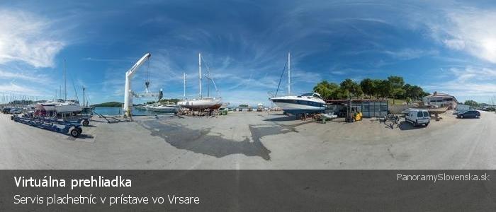 Servis plachetníc v prístave vo Vrsare