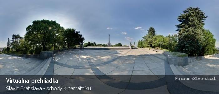 Slavín Bratislava - schody k pamätníku